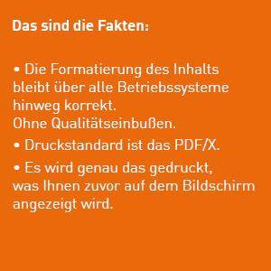 Was ist ein PDF? Auf dem Weg zur druckfähigen Datei. Zusammenfassung