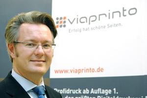 Freut sich über die Nominierung: viaprinto-Geschäftsführer Dr. Michael Fries.