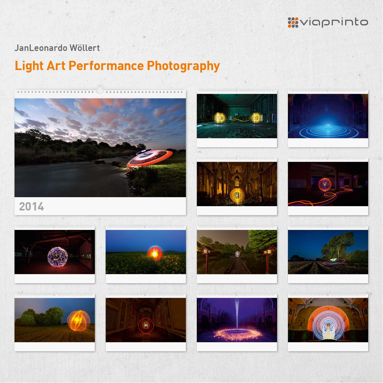"JanLeonardo Wöllert Motivkalender ""Light Art Performance Photography"""