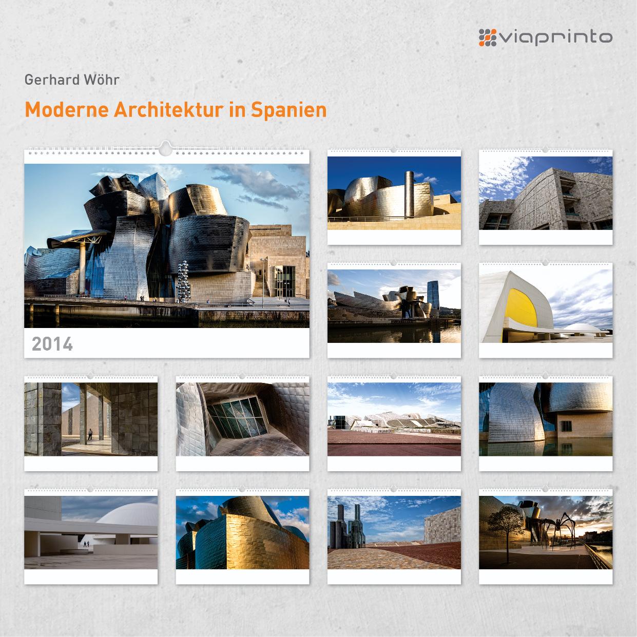 """Gerhard Wöhr Moitivkalender """"Moderne Architektur in Spanien"""""""