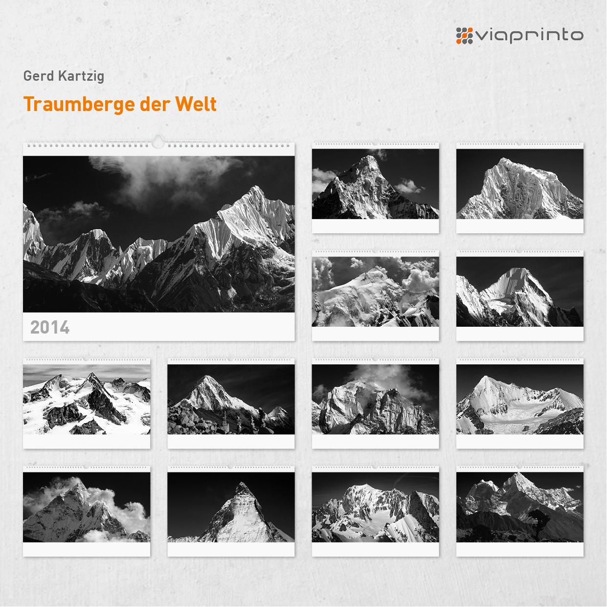 """Gerd Kartzig Motivkalender """"Traumberge der Welt"""""""
