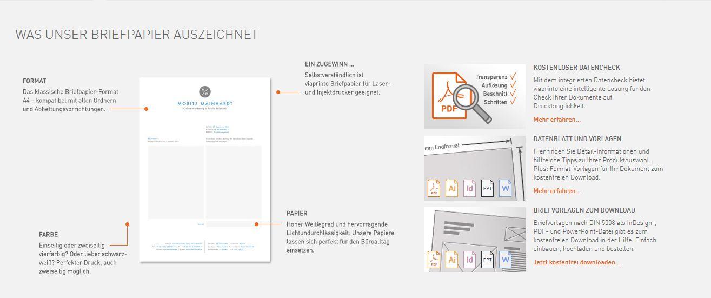 Briefpapier Erstellen Mit Viaprinto Viaprinto Blog