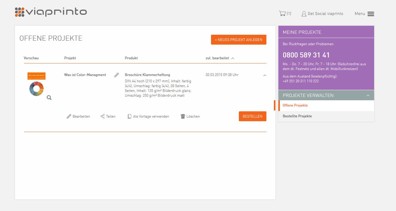 So sieht es aus: das neue viaprinto | viaprinto Blog
