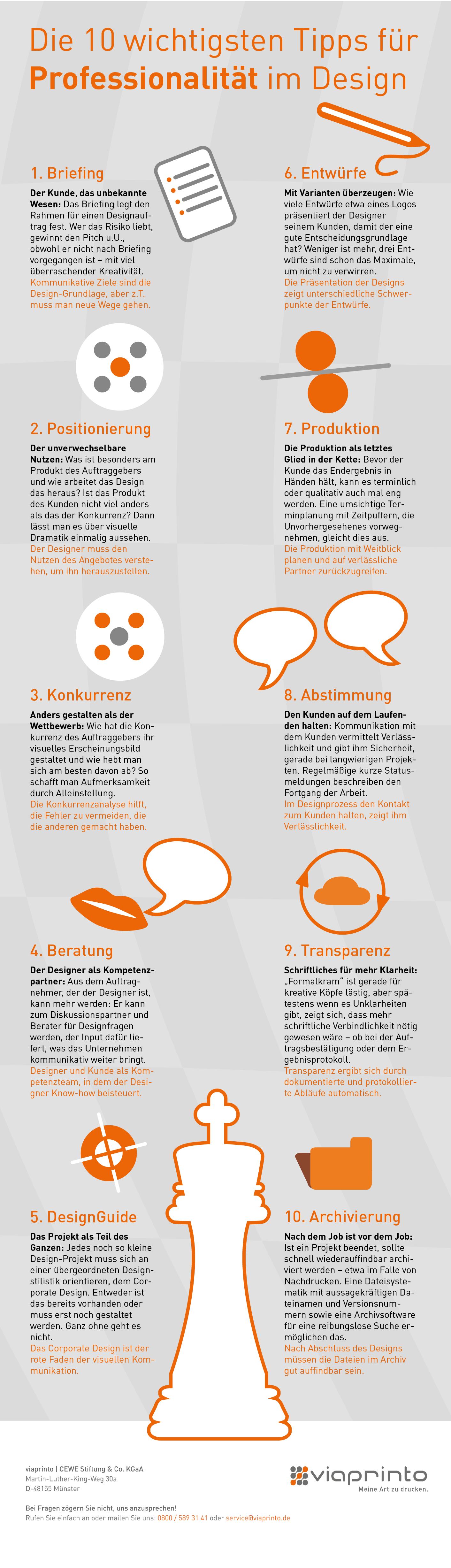 10 Tipps Für Professionalität Im Design Viaprinto Blog Alles