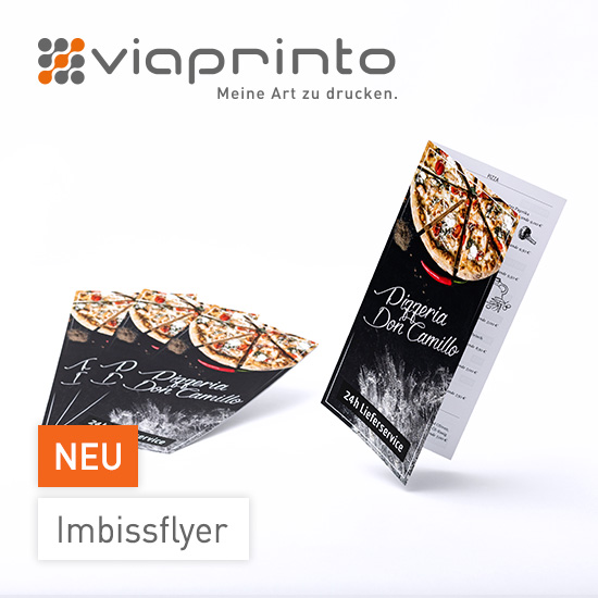 Imbissflyer bei viaprinto