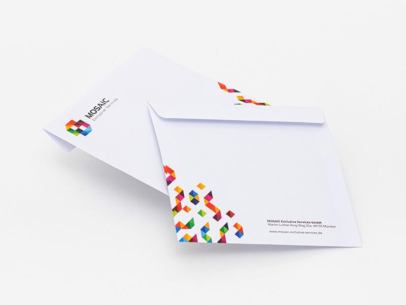 Quadformat Briefumschlag
