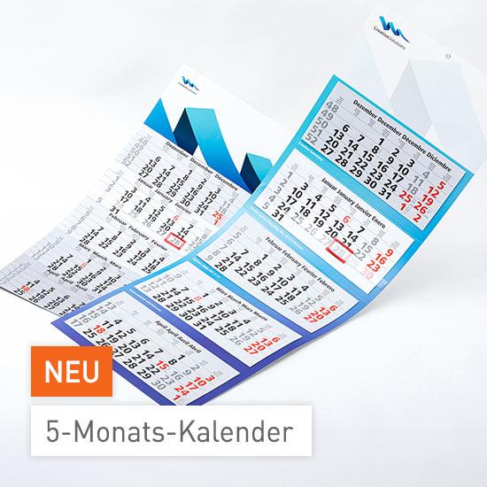 fünf-monatskalender bei viaprinto